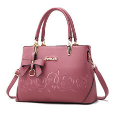 UK Women Bow Handbag Tote Purse Flower Satchel Shoulder Crossbody Pu Leather Bag