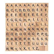 100x SCRABBLE ERSATZTEILE Holz Buchstaben und Zahlen Spielzubehör Brettspiel NEU