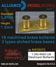 Alliance Model Works 1:350 WWII IJN Destroyer Bollards D:1.2mm,H:1.5mm #NW35070