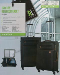 2 ultraleichte Trolley-Reisekoffer Koffer Alu-Teleskopgestänge Zahlenschloss NEU