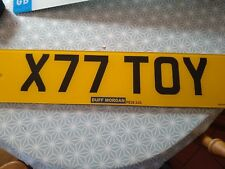 X77 TOY registration plate Cherished Number