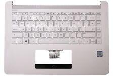 New HP 14-BP White Palmrest Cover UK QWERTY Keyboard 929651-031