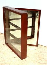 Vintage Mirror Back Mahogany Display Cabinet - FREE Shipping [PL5069]