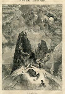 1856  View of Mont Blanc antique print