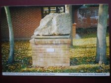 POSTCARD A4-1 HERTFORDSHIRE PUDDING STONE OUTSIDE ABBOTS LANGLEY LIBRARY