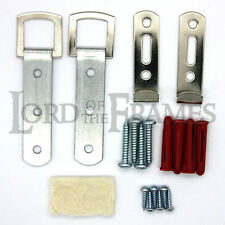SECURE HEAVY DUTY LARGE PICTURE FRAME MIRROR HANGING KIT HOOKS HANGERS FITTINGS
