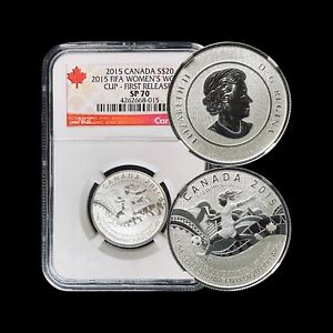 2015 Canada 20 Dollars - NGC SP70 (Perfect) Women's FIFA World Cup Top Pop 🥇
