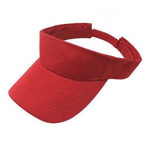 Pack of 5 Sun Visor Adjustable Cap Hat Athletic Wear