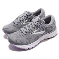 Brooks Adrenaline GTS 19 D Wide Grey Lavender Navy Women Running Shoes 120284 1D