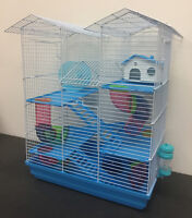 5 Level Large Twin Towner Syrian Hamster Habitat Gerbil Degu Mice Rats Cage 502