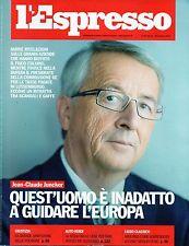 L'Espresso.Jean-Claude Juncker,nnn