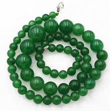 "Round Beads Necklace 18"" Aaa+ New 6-14mm Green Natural Emerald"