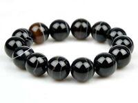 Natural Sardonyx / Striped Agate 14mm DZI Beads Bracelet