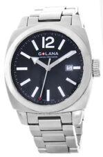 Golana Men's Aero Pro 100 Black Dial Stainless Steel Strap Watch G0161