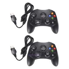 2Pcs Black Wired Video Game Controller Gamepad for Microsoft XBOX System Type 2