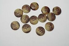10pc 15 mm light Brown Mock CORNE OS Chemise Costume Cardigan Knitwear Bouton 3779