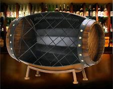 NEW! ELEGANT WOOD BARREL WINE BOTTLE RACK-HOLDER FOR BAR-LIVING & DINING ROOM 2