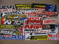 100+ lot of new race car decals stickers--STREET OUTLAWS--NHRA--chevy-ford-mopar