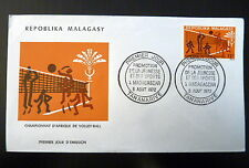 MADAGASCAR  509   PREMIER JOUR FDC      CHAMPIONNAT VOLLEY  BALL    12F     1972