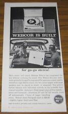 1960 Ad Webcor Holiday Portable Fonograf Record Player
