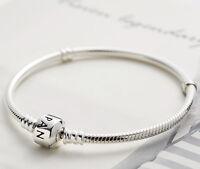 Pandora Genuine Moments Sterling Silver Barrel Clasp Bracelet 590702HV