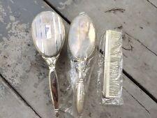 VINTAGE,  STERLING SILVER DRESSER SET, 2 Sterling Brushes, 1 Comb