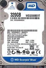WD3200BEVT-00A0RT0 WD 320GB SATA dcm: HACTJABB s/n: WXG.. B11-3