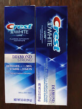 Crest 3DW DIAMOND STRONG BRILLIANT, MINT,Toothpaste - Lot of 16 boxes- 3.5 oz