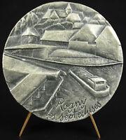 Médaille Rogny-les-Sept-Écluses Hugues Cosnier Marcel Poulet échelle d'écluses