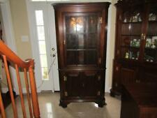1- Henkel Harris Mahogany 9 Lite Corner Cabinet - Very Nice
