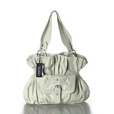 New Genuine Cream Leather Handbag By LUSSO - Simply Stunning!