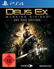 Playstation 4 Deus Ex Mankind Divided Day One Edition Sehr guter Zustand