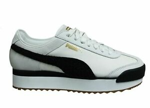 Puma Roma Amor Heritage White Black Low Lace Up Womens Trainers 370947 01