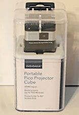 Insignia Portable Pico Projector Cube Black NS-PR116 BRAND NEW OPEN BOX