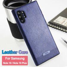 Case Samsung Galaxy Note 10 Plus S8 S9 Slim Luxury Leather Thin TPU Retro Cover