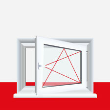 Kellerfenster Weiß 4 Sicherheitspilzzapfen abschließbarer Griff / Dreh/Kipp