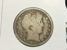 1897-O Barber Half. Dollar. In Good plus 3 letters show of Liberty