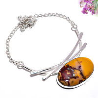 Mookaite Jasper Gemstone 925 Sterling Silver Handmade Necklace Jewelry 18 4205
