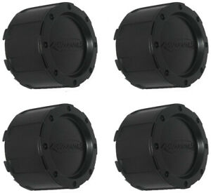4 Pack - 3293 3226 Pro Comp Black Wheel Rim Center Cap - FITS EAGLE 3226