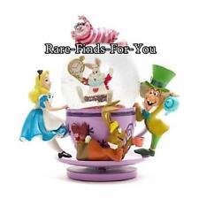 Disney Parks Alice in Wonderland Cheshire Cat Tea Cup Snow Globe Ornament (NEW)