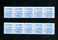 US Stamps # 2005 XF Pl#1 + 2 Strips of 5 OG NH Scott Value $80.00