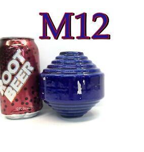 Antique/Vintage Cobalt Blue Lightning Rod Ball Art Deco Ceramic *M12*