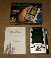Vintage Excalibur LCD Pool Electronic Handheld Game +Original Box Manual 8-Ball