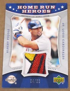 ~2004 Sweet Spot Home Run Heroes Albert Pujols CARDINALS LOGO JERSEY PATCH 1/1~