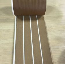 12.5 Meter Roll Boat Yacht Synthetic Teak Deck 190mm Wide With White Caulking