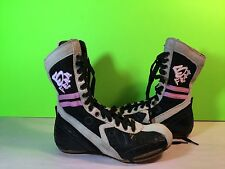 Frontline B Free High Top Hip Hop Dance Shoes Black Gray Pink Size 5