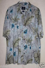 Caribbean Joe Mens Hawaiian Camp Shirt Multi Color XXL 100% Silk
