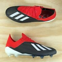 Adidas X 18.1 FG Red Core Black White Soccer Cleats [BB9345] Multi Size