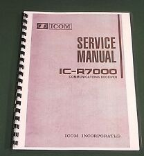 "Icom IC-R7000 Service Manual: 11""X32"" Foldout Schematics & Protective Covers"