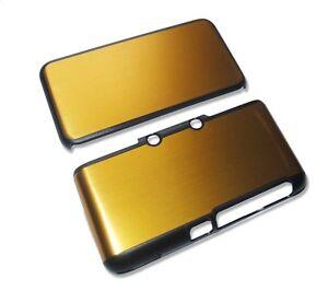 Nintendo 2DS XL 2DSXL Orange Gold Aluminium Metal Case Cover Shell Housing UK